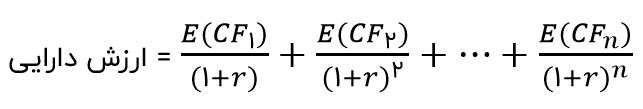 معادله ارزش دارایی
