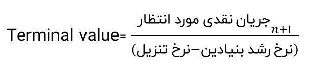 فرمول terminal value
